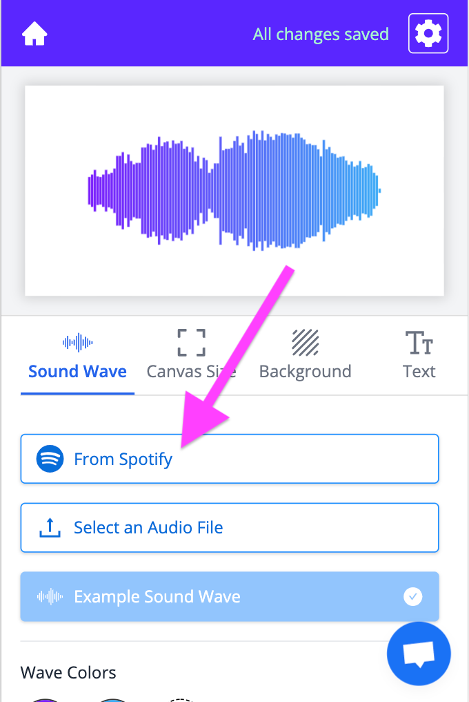 Fromt Spotify button on mobile